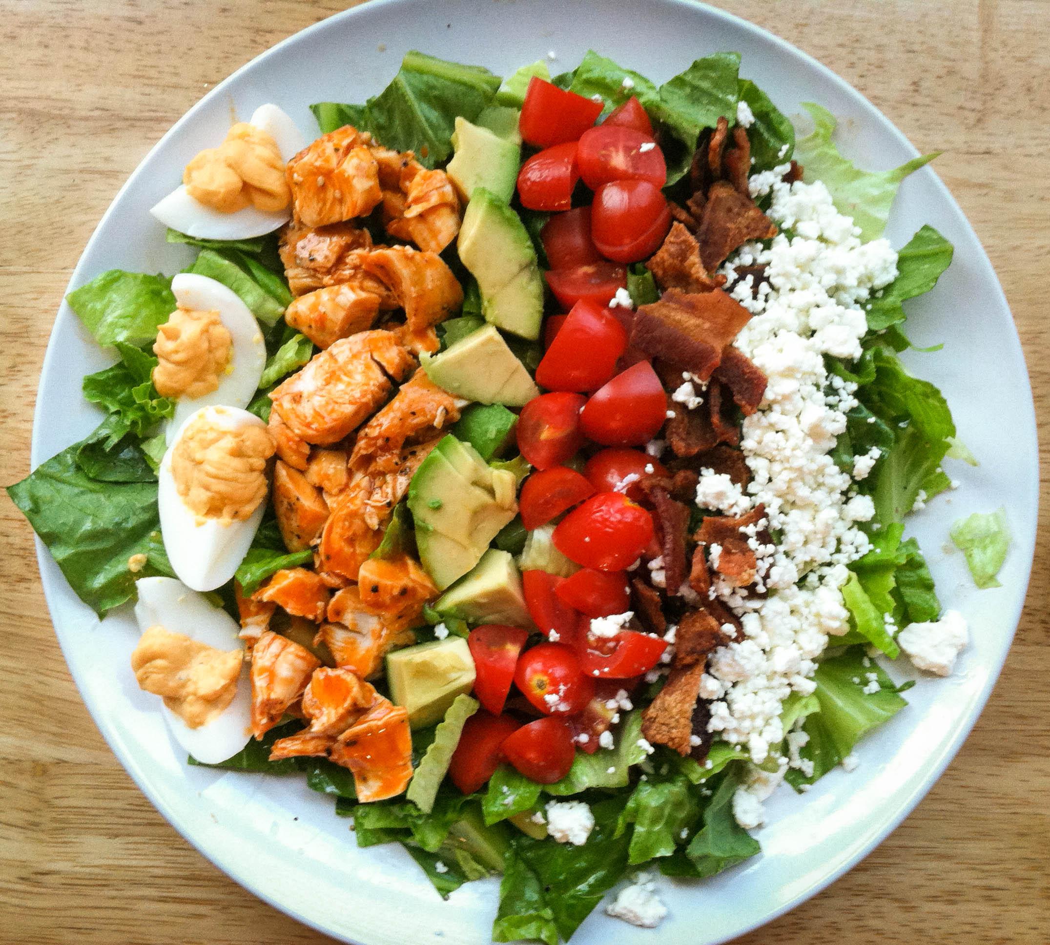 Buffalo Chicken Cobb Salad with Buffalo Deviled Eggs | I'll Have ...